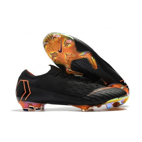 Chaussures de Football Nike Mercurial Vapor XII FG - Noir Or