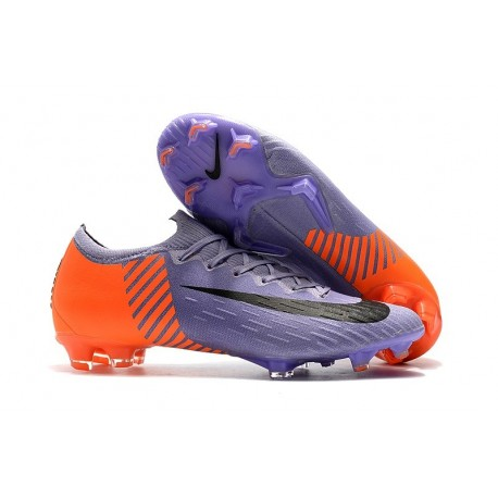 Chaussures de Football Nike Mercurial Vapor XII FG - Violet Orange