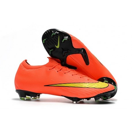 Nike Mercurial Vapor 12 Elite FG Crampons de Foot - Orange Jaune