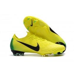 Nike Mercurial Vapor 12 Elite FG Crampons de Foot - Jaune Vert