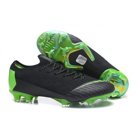 Nike Mercurial Vapor 12 Elite FG Crampons de Foot - Noir Vert