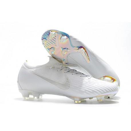 Nike Mercurial Vapor 12 Elite FG Crampons de Foot - Blanc