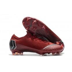Nike Chaussure Mercurial Vapor 12 Elite FG Homme Rouge Noir