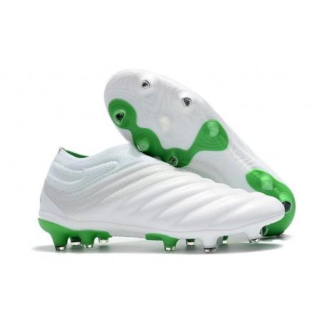 Chaussures Nouveaux adidas Copa 19+ FG Blanc Vert