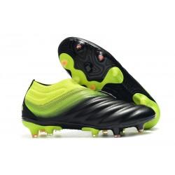 Chaussures Nouveaux adidas Copa 19+ FG Noir Vert