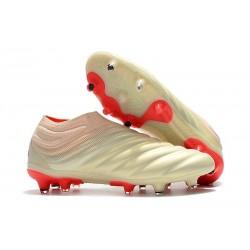 Chaussures Nouveaux adidas Copa 19+ FG Blanc Rouge