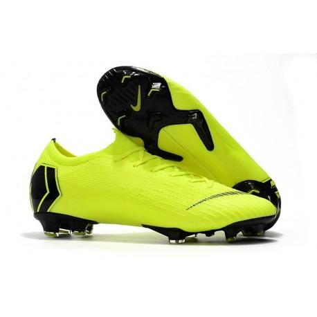 Nike Chaussure Mercurial Vapor 12 Elite FG Homme Volt Noir