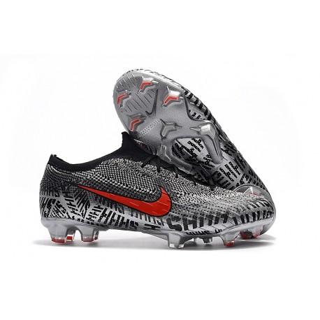 Nike Mercurial Vapor XII Elite FG Crampons de Football - Neymar Noir Blanc Rouge
