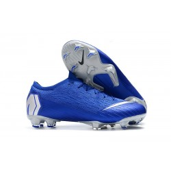 Nike Mercurial Vapor XII Elite FG Crampons de Football - Bleu Argent
