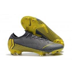 Chaussures Nouvelles Nike Mercurial Vapor XII Elite FG - Gris Noir Or