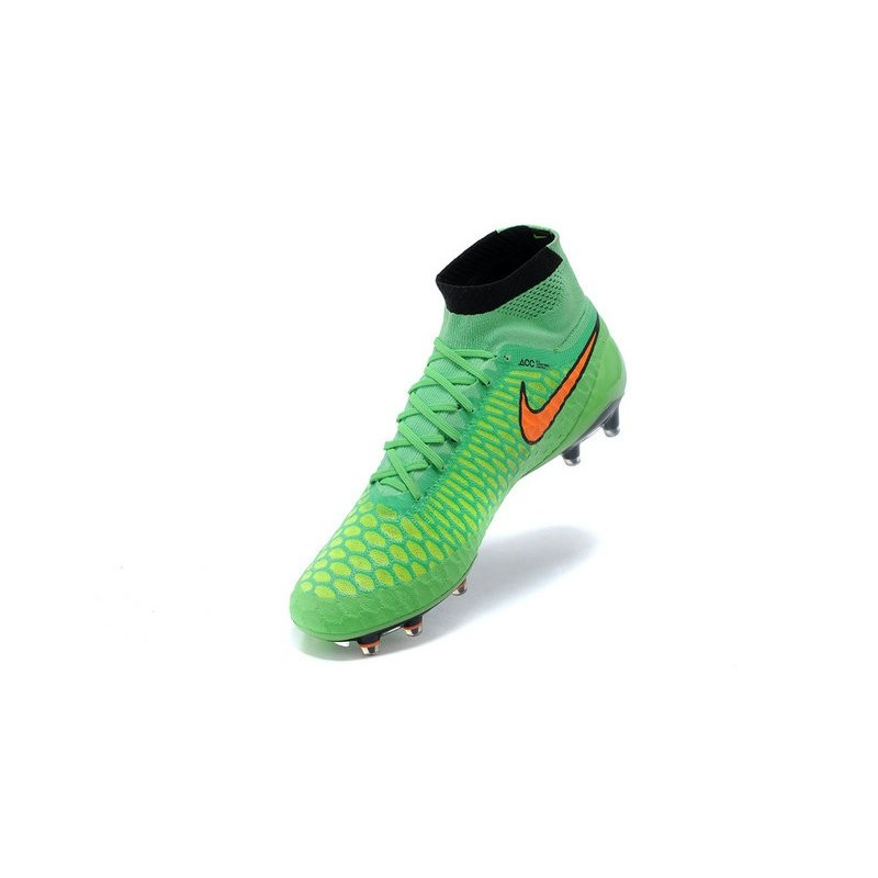 crampon foot nouveau 2015 nike magista obra fg homme vert orange. Black Bedroom Furniture Sets. Home Design Ideas