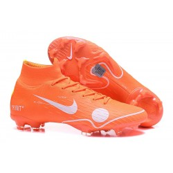 Nike Nouvelles Crampons Mercurial Superfly VI FG - Orange Blanc