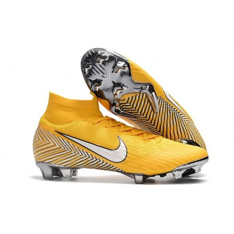 Nike Nouvelles Crampons Mercurial Superfly VI FG - Neymar Jaune