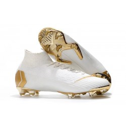 Nike Mercurial Superfly VI 360 FG Chaussure Football - Blanc Or
