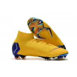Nike Mercurial Superfly VI 360 FG Chaussure Football - Jaune Bleu