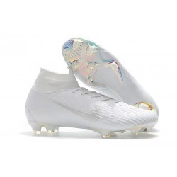 Crampon de Football Nike Mercurial Superfly 6 Elite FG - Blanc