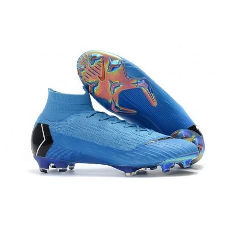 Crampon de Football Nike Mercurial Superfly 6 Elite FG - Bleu