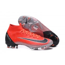 Crampon de Football Nike Mercurial Superfly 6 Elite FG - Rouge Noir