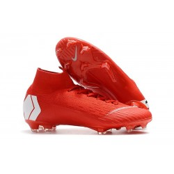 Crampon de Football Nike Mercurial Superfly 6 Elite FG - Rouge Blanc