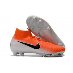 Crampon de Football Nike Mercurial Superfly 6 Elite FG - Orange Blanc