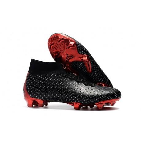 Crampon Nike Mercurial Superfly 6 Elite FG - Jordan Noir Rouge