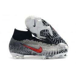 Chaussures Nike Superfly 6 Elite FG pour Neymar - Noir Blanc Rouge