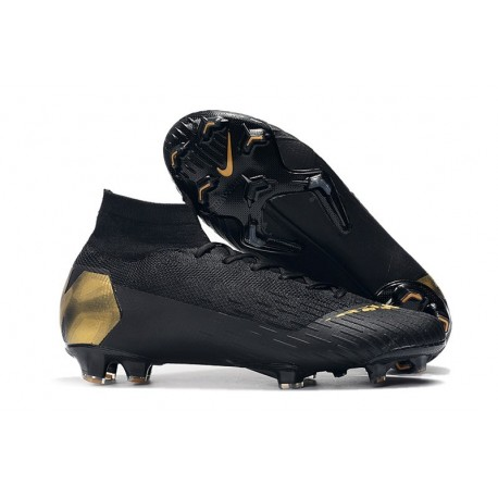 Chaussures Nike Superfly 6 Elite FG pour Homme - Noir Or