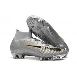 Chaussures Nike Superfly 6 Elite FG pour Homme - Argent Noir