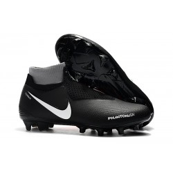 Chaussures de Football Nike Phantom Vision Elite DF FG Noir Blanc Rouge