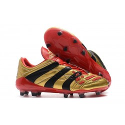 Chaussures de Football adidas Predator Accelerator FG - Or Rouge Noir