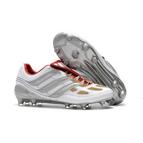 Chaussures de Football adidas Predator Accelerator FG - Gris Rouge