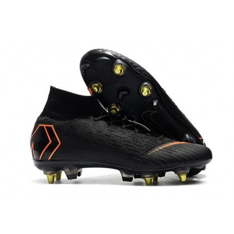 Nike Mercurial Superfly 6 Elite SG-PRO Anti Clog Noir Orange