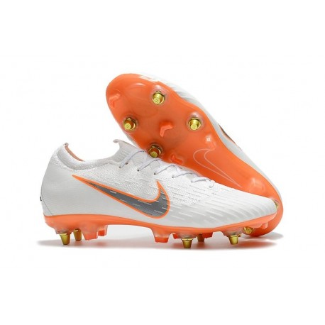 Nike Crampons Mercurial Vapor XII Elite Anti-Clog SG-Pro Blanc Orange
