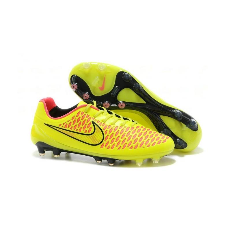 Chaussure de foot pas cher nike magista opus fg acc jaune - Chaussure de foot stabilise pas cher ...
