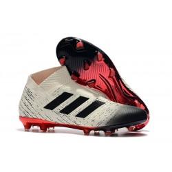 adidas Crampons de Football Nemeziz 18+FG - Blanc Noir Rouge