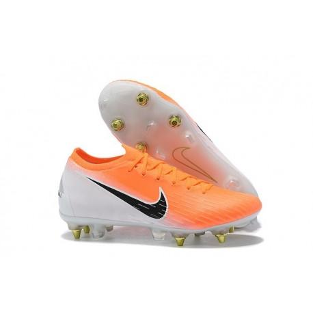 Nike Mercurial Vapor 12 SG-Pro AC Homme - Orange Noir