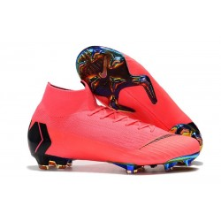 Chaussures Nike Superfly 6 Elite FG pour Homme - Rose Noir