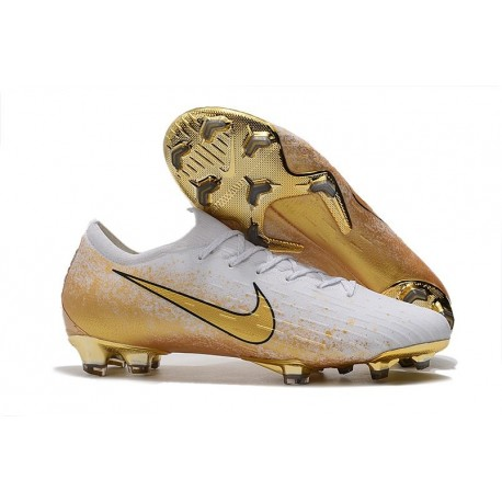Nike Mercurial Vapor XII Elite FG Crampons de Football - Blanc Or