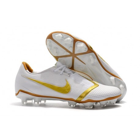 Chaussures Nouvelle Nike Phantom Venom Elite FG Blanc Or