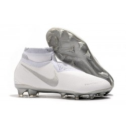 Nike Phantom Vsn Elite DF FG Crampons de Foot - Blanc