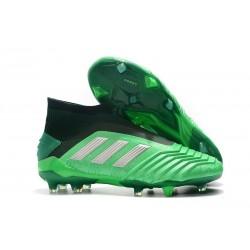 adidas Crampons de Foot Predator 19+ FG Vert Argent