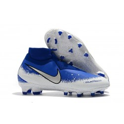 Chaussures de Football Nike Phantom Vision Elite DF FG Bleu Argent