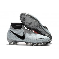 Chaussures de Football Nike Phantom Vision Elite DF FG Gris Rouge