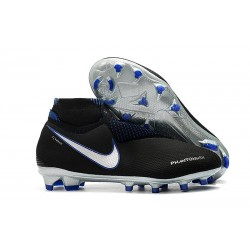 Chaussures de Football Nike Phantom Vision Elite DF FG Noir Bleu