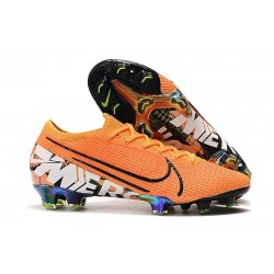 Chaussures Nike Mercurial Vapor 13 Elite FG Orange Blanc