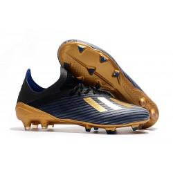 Chaussures adidas X 19.1 FG Noir Or Bleu