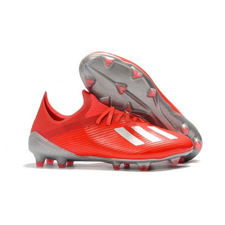 Chaussures adidas X 19.1 FG Rouge Argent