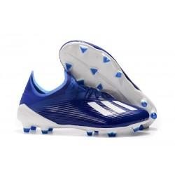Chaussures adidas X 19.1 FG Bleu Blanc