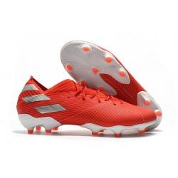 Chaussures de football adidas Nemeziz 19.1 FG Rouge Argent