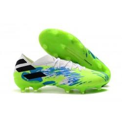 Chaussures de football adidas Nemeziz 19.1 FG Vert Noir Bleu